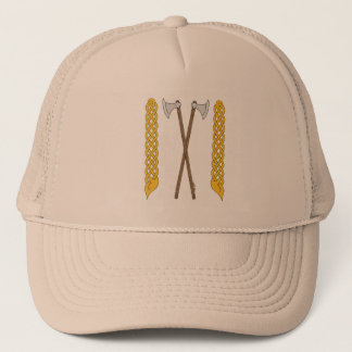 Danish Axes Crossed with Plaitwork Trucker Hat