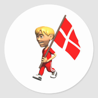Danish Boy Classic Round Sticker