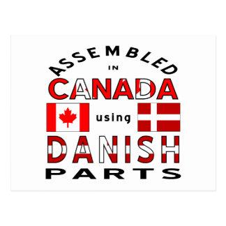 Danish Canada Parts Postcard