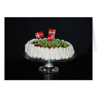 Danish celebration cake card