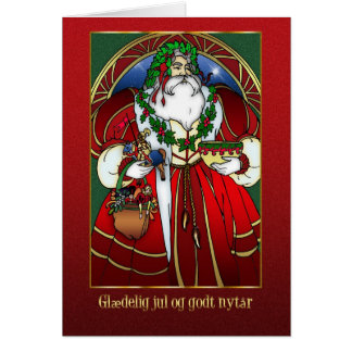 Danish Christmas Card - Santa Claus - Glædelig jul
