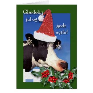 Danish Christmas, Glaedelig jul og godt nytar, Cow Card