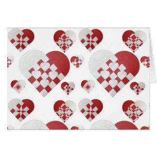 Danish Christmas Hearts Card