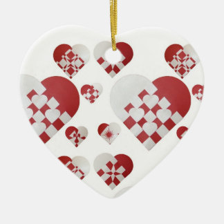 Danish Christmas Hearts Ornaments