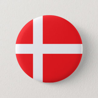 Danish Flag 2 Inch Round Button
