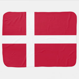 Danish flag baby blanket