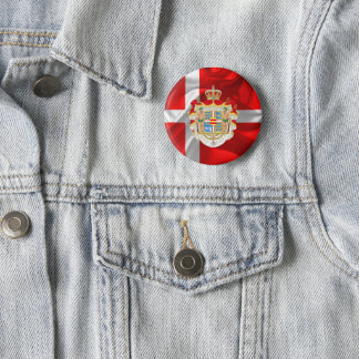Danish flag-Coat of arms 2 Inch Round Button