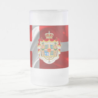 Danish flag-Coat of arms Frosted Glass Beer Mug