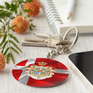 Danish flag-Coat of arms Keychain