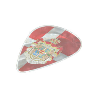 Danish flag-Coat of arms Pearl Celluloid Guitar Pick