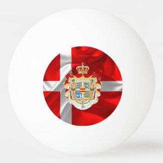 Danish flag-Coat of arms Ping Pong Ball