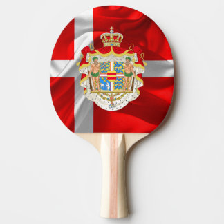 Danish flag-Coat of arms Ping Pong Paddle