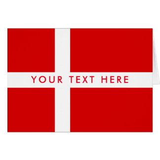 Danish flag custom greeting card for Denmark