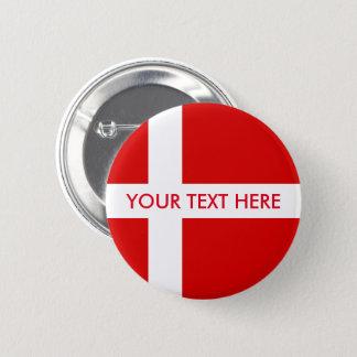 Danish flag custom round pinback buttons