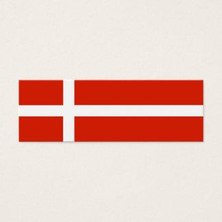 Danish Flag Gift Tag Mini Business Card