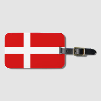 Danish flag luggage tags for bags and suitcases
