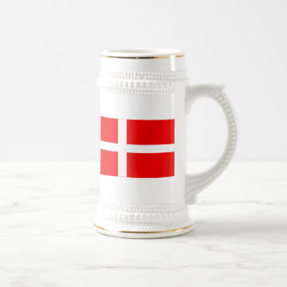 Danish flag of Denmark gifts for Danes Beer Stein