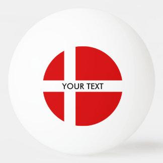 Danish flag ping pong balls for table tennis