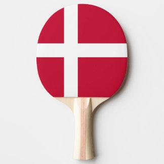 Danish flag ping pong paddle