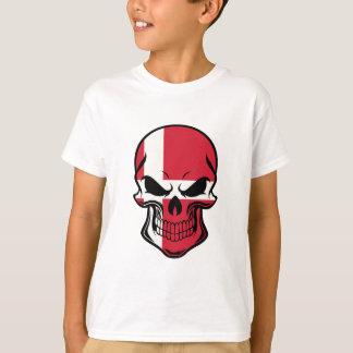 Danish Flag Skull T-Shirt