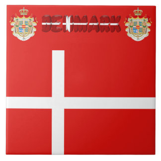 Danish flag tile