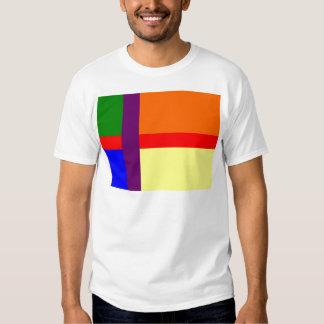 Danish Gay Pride Flag Tee Shirt