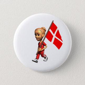 Danish Girl 2 Inch Round Button