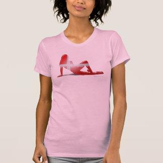 Danish Girl Silhouette Flag T-shirts