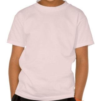 Danish Girl Silhouette Flag Tshirts
