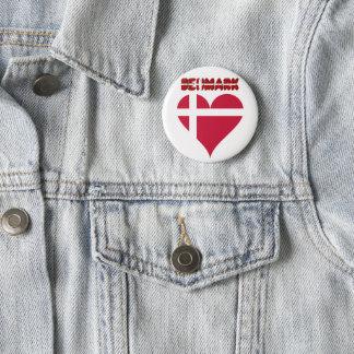 Danish heart 2 inch round button