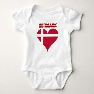Danish heart baby bodysuit