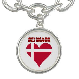 Danish heart charm bracelet