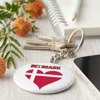 Danish heart flag keychain