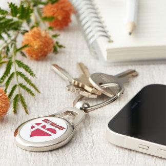 Danish heart keychain