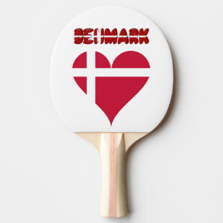 Danish heart ping pong paddle