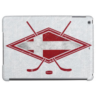 Danish Hockey Flag Logo iPad Cover