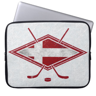 Danish Hockey Flag Logo Laptop Case