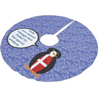 Danish Holiday Mr. Penguin Brushed Polyester Tree Skirt