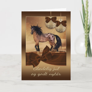 Danish christmas cards photocards invitations more danish horse christmas holiday greeting card m4hsunfo