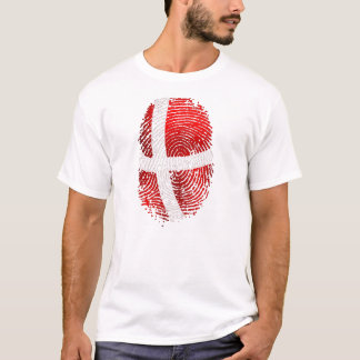Danish identity Dansk fingerprint DNA gifts T-Shirt