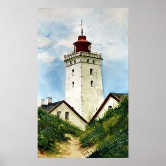 Danish Lighthouse Poster