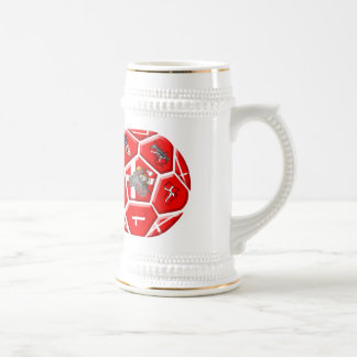 Danish Scandanavian viking soccer ball gifts Beer Stein