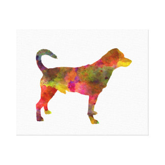 Danish swedish farmdog 01 in watercolor 2 canvas print