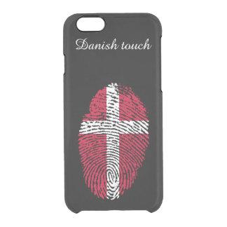 Danish touch fingerprint flag clear iPhone 6/6S case