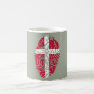 Danish touch fingerprint flag coffee mug