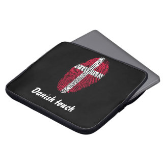 Danish touch fingerprint flag laptop sleeve