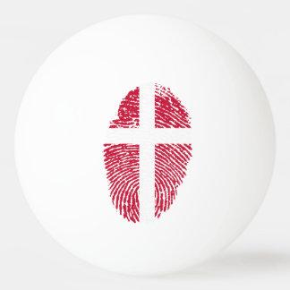 Danish touch fingerprint flag ping pong ball