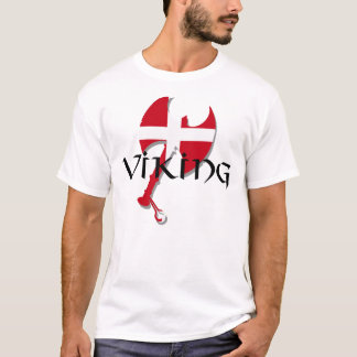 Danish Viking Denmark flag Axe T-Shirt