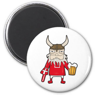 Danish Viking Fan Magnet