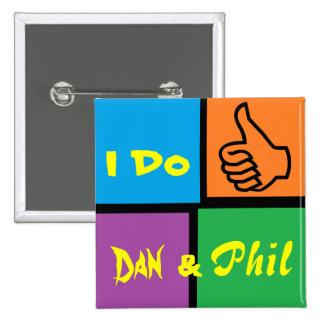 Danisonfire & AmazingPhil Duo Fan Badge 2 Inch Square Button